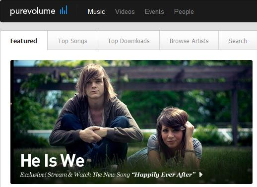 He is We featured on Pure Volume.